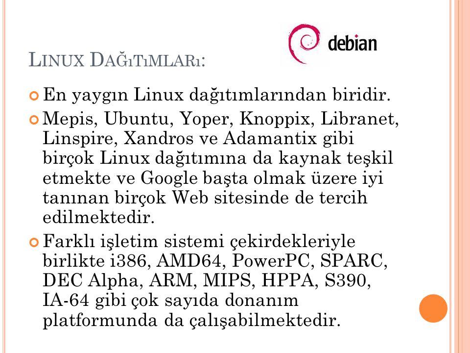 Linux Dağıtımları: En yaygın Linux dağıtımlarından biridir.