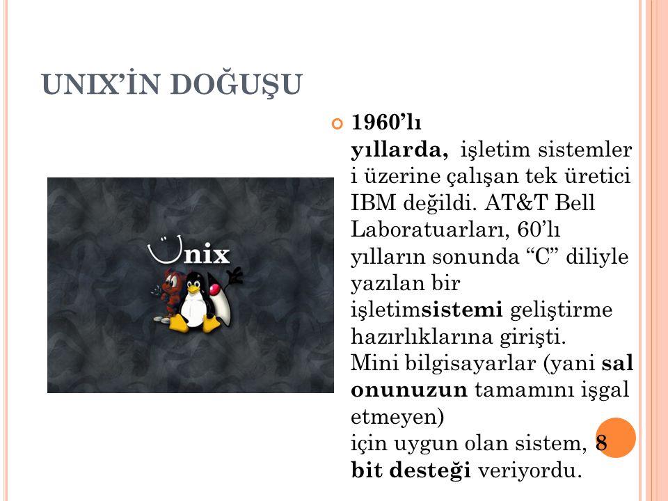 UNIX'İN DOĞUŞU