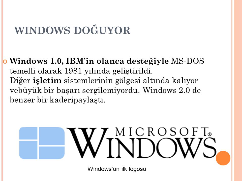 WINDOWS DOĞUYOR
