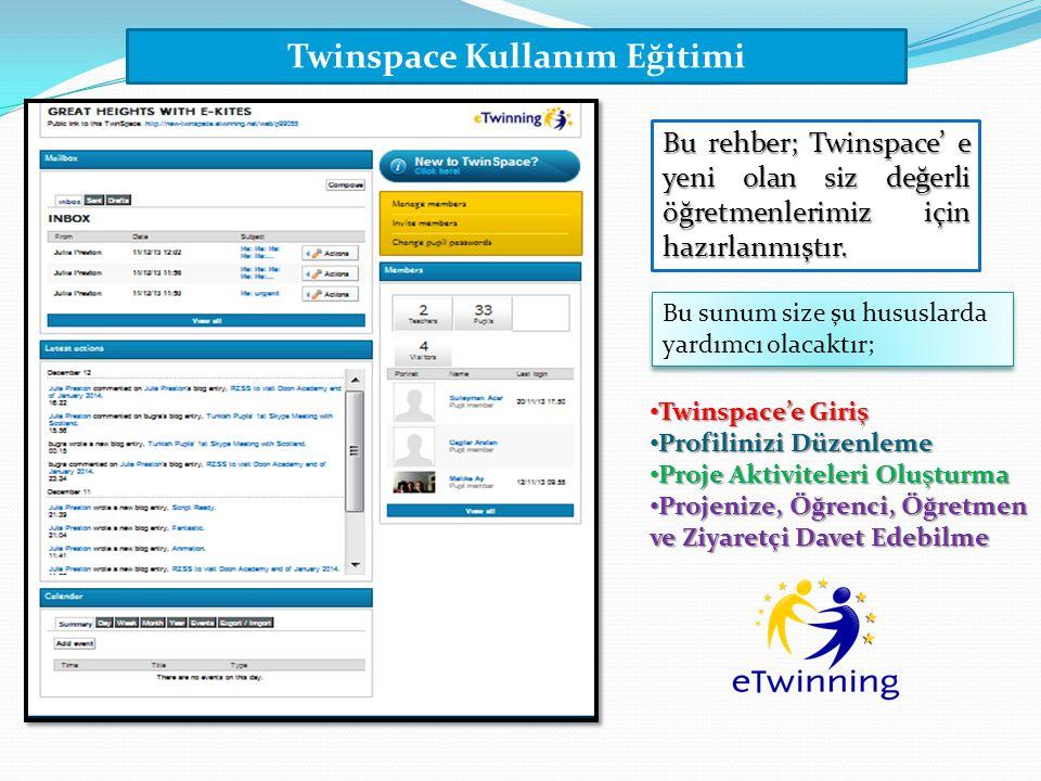 Twinspace Kullanım Eğitimi