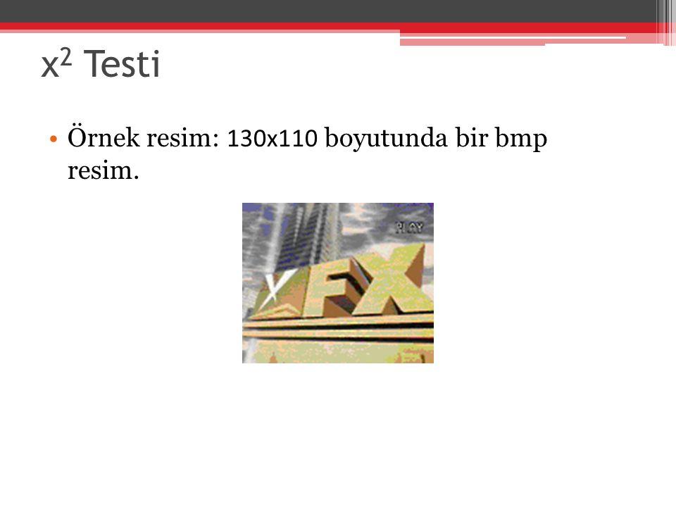 χ2 Testi Örnek resim: 130x110 boyutunda bir bmp resim.