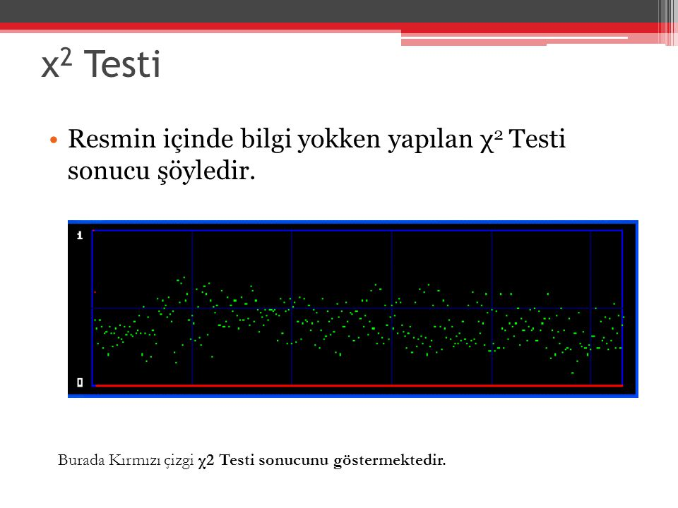 χ2 Testi Resmin içinde bilgi yokken yapılan χ2 Testi sonucu şöyledir.
