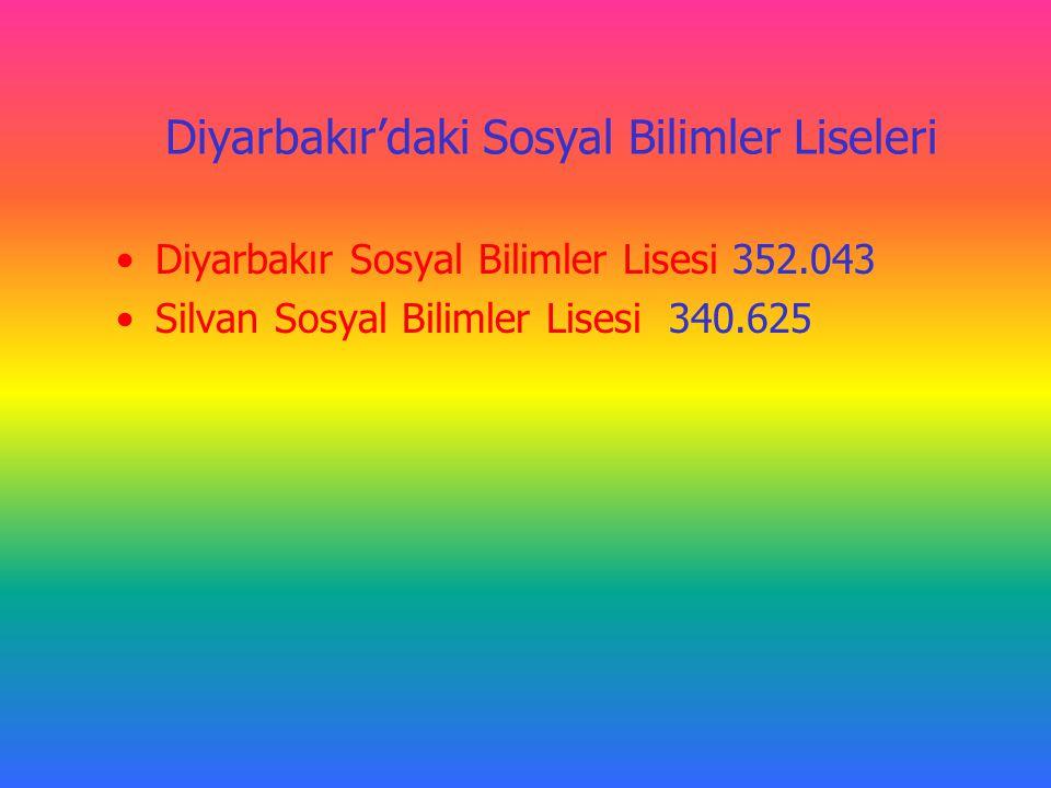 Diyarbakır'daki Sosyal Bilimler Liseleri