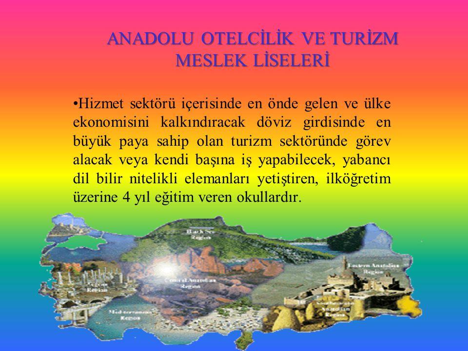 ANADOLU OTELCİLİK VE TURİZM MESLEK LİSELERİ