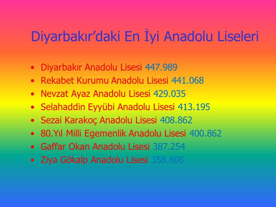 Diyarbakır'daki En İyi Anadolu Liseleri