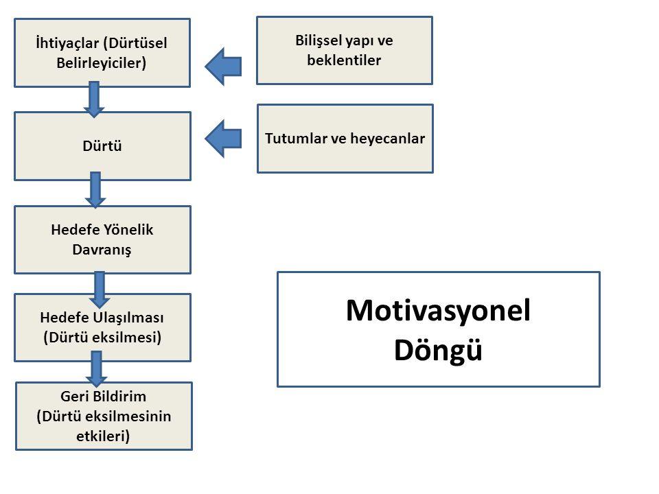 Motivasyonel Döngü Bilişsel yapı ve beklentiler