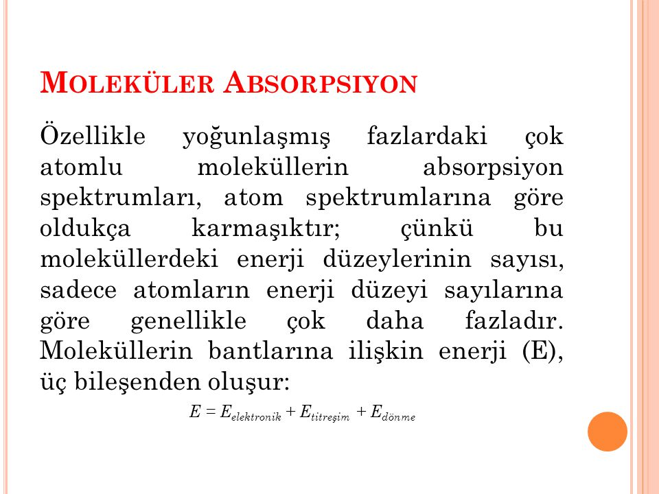 Moleküler Absorpsiyon