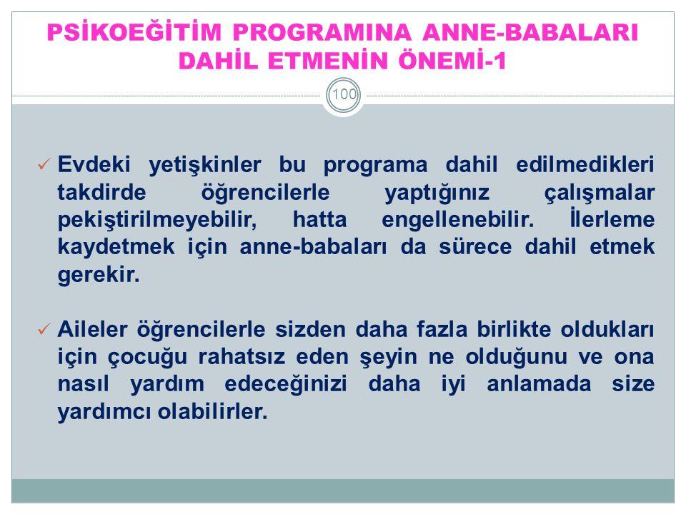 PSİKOEĞİTİM PROGRAMINA ANNE-BABALARI DAHİL ETMENİN ÖNEMİ-1