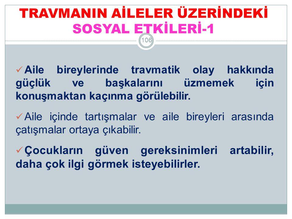 TRAVMANIN AİLELER ÜZERİNDEKİ SOSYAL ETKİLERİ-1
