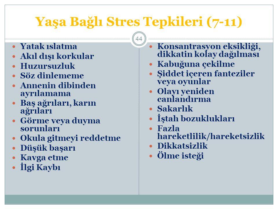 Yaşa Bağlı Stres Tepkileri (7-11)