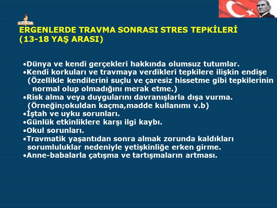 ERGENLERDE TRAVMA SONRASI STRES TEPKİLERİ (13-18 YAŞ ARASI)