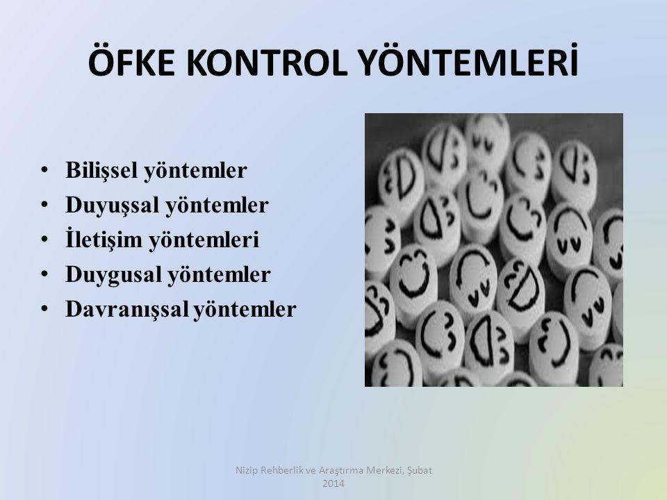 ÖFKE KONTROL YÖNTEMLERİ