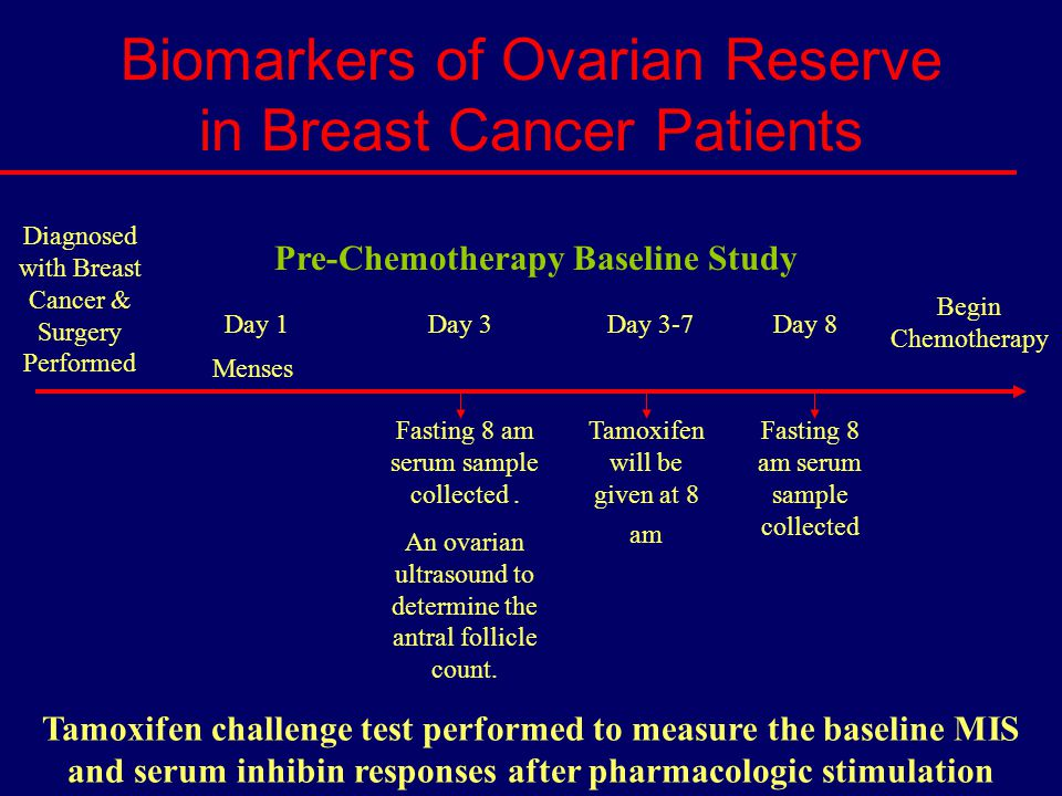 Biomarkers of Ovarian Reserve in Breast Cancer Patients