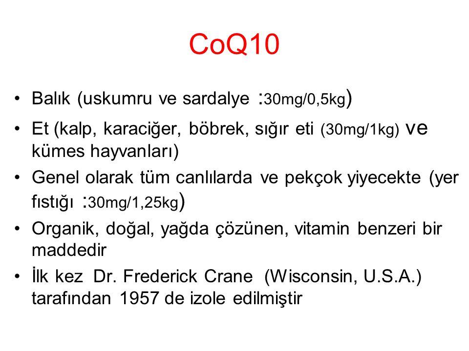 CoQ10 Balık (uskumru ve sardalye :30mg/0,5kg)