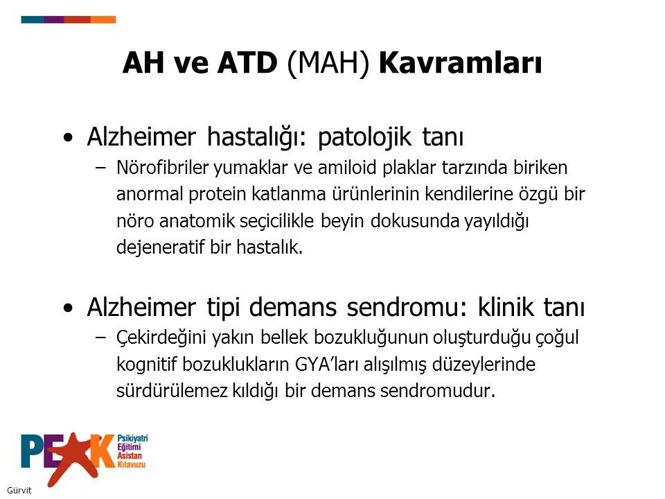 AH ve ATD (MAH) Kavramları