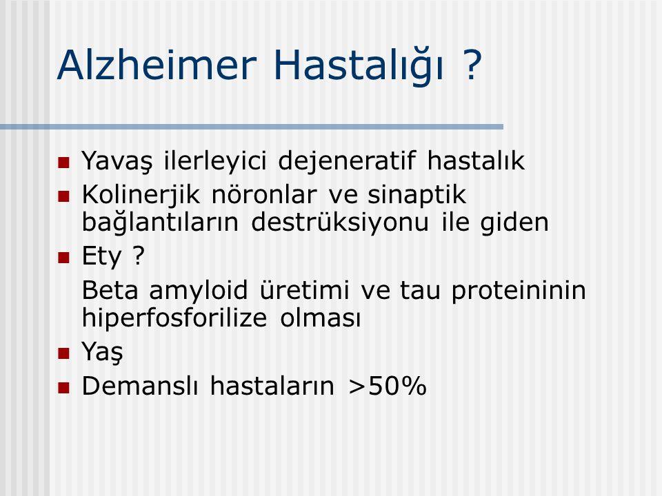 Alzheimer Hastalığı Yavaş ilerleyici dejeneratif hastalık