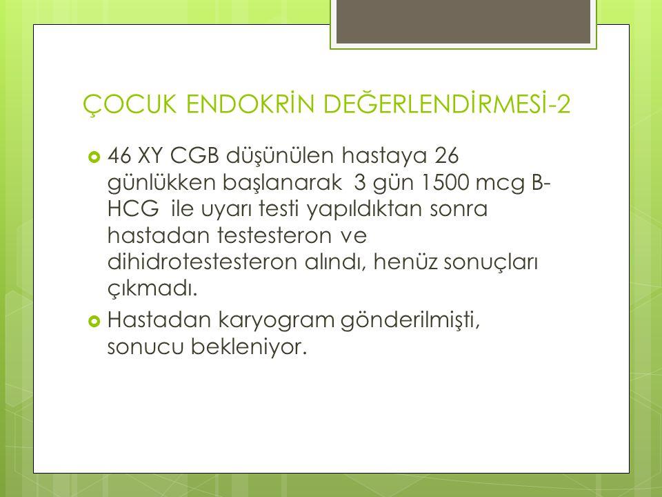 ÇOCUK ENDOKRİN DEĞERLENDİRMESİ-2