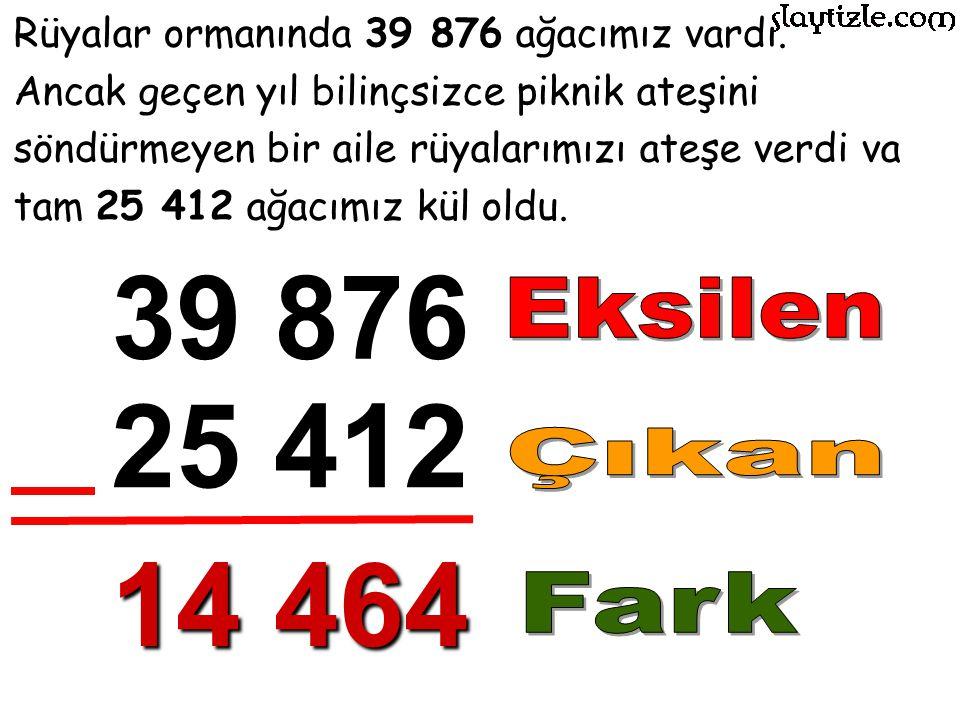 Rüyalar ormanında 39 876 ağacımız vardı.