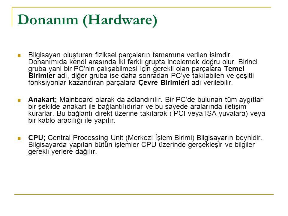 Donanım (Hardware)