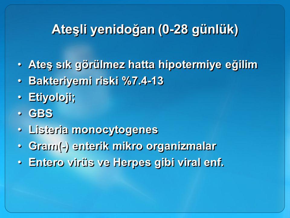 Ateşli yenidoğan (0-28 günlük)
