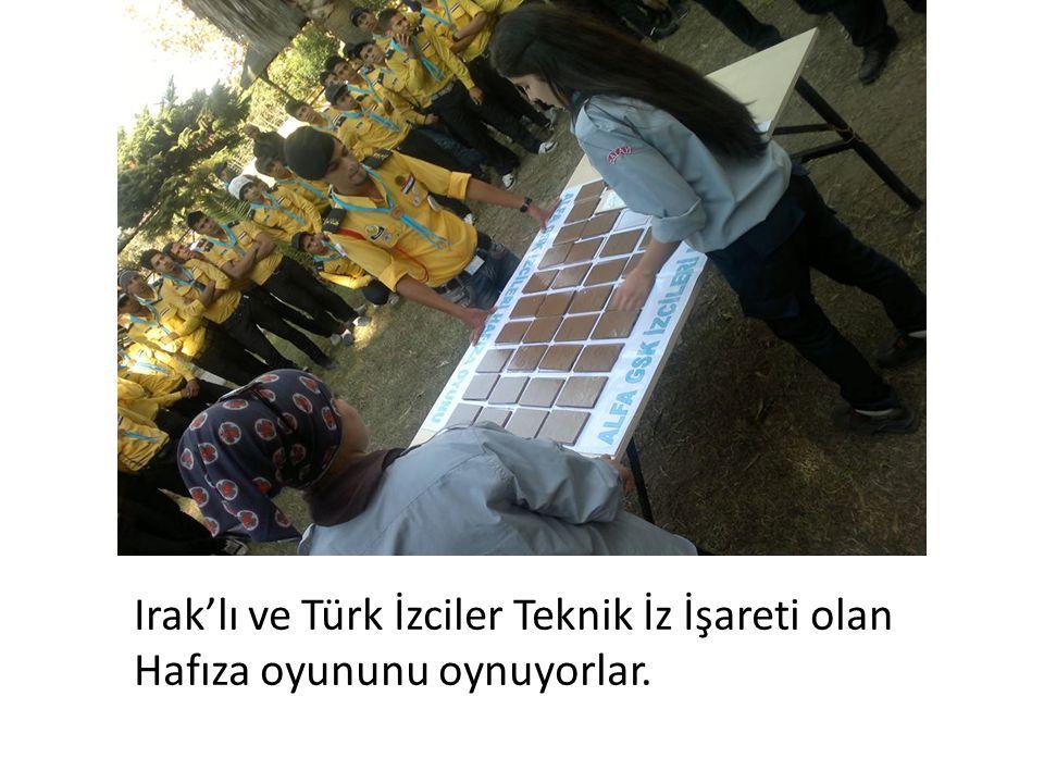 Irak'lı ve Türk İzciler Teknik İz İşareti olan