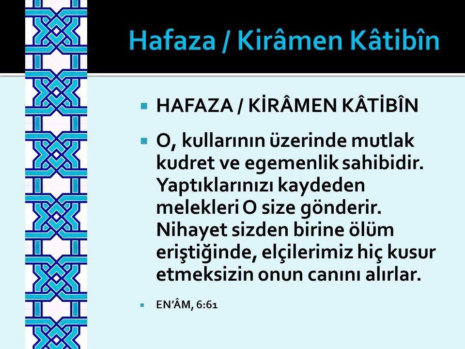 Hafaza / Kirâmen Kâtibîn