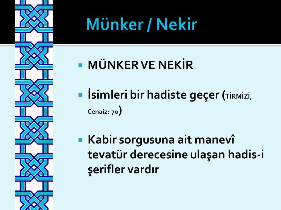 Münker / Nekir MÜNKER VE NEKİR