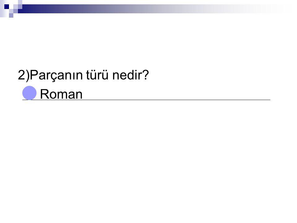 2)Parçanın türü nedir Roman