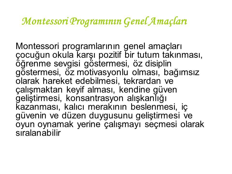 Montessori Programının Genel Amaçları