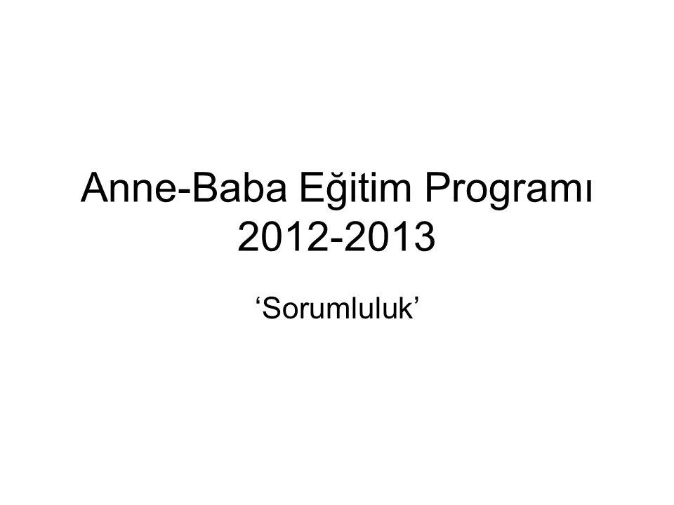 Anne-Baba Eğitim Programı 2012-2013