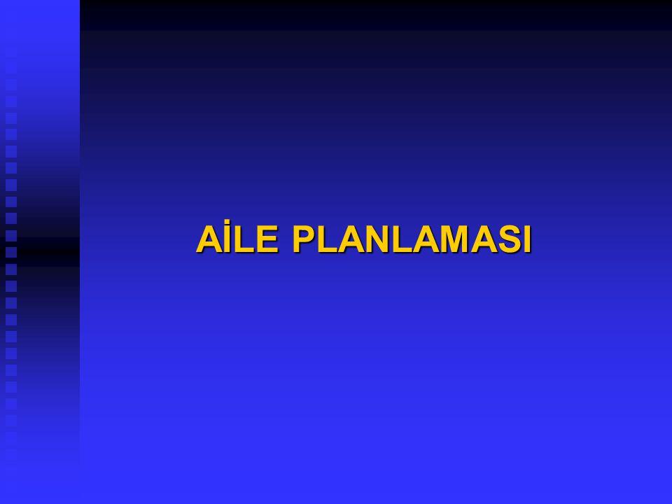 AİLE PLANLAMASI