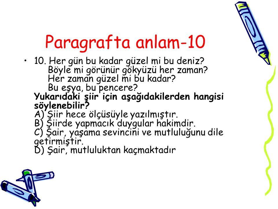 Paragrafta anlam-10