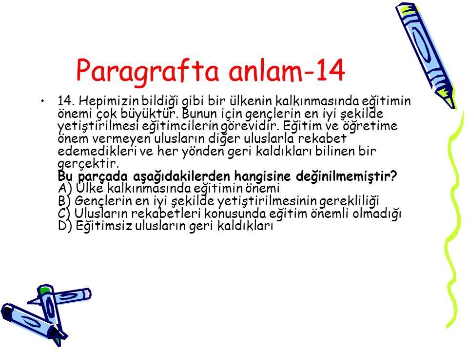 Paragrafta anlam-14