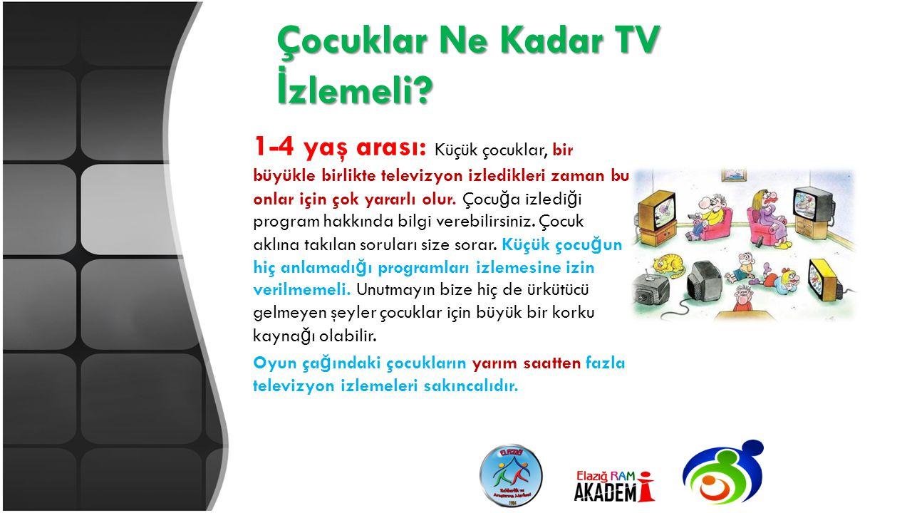 Çocuklar Ne Kadar TV İzlemeli