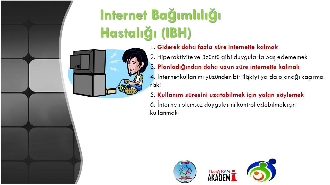 Internet Bağımlılığı Hastalığı (IBH)