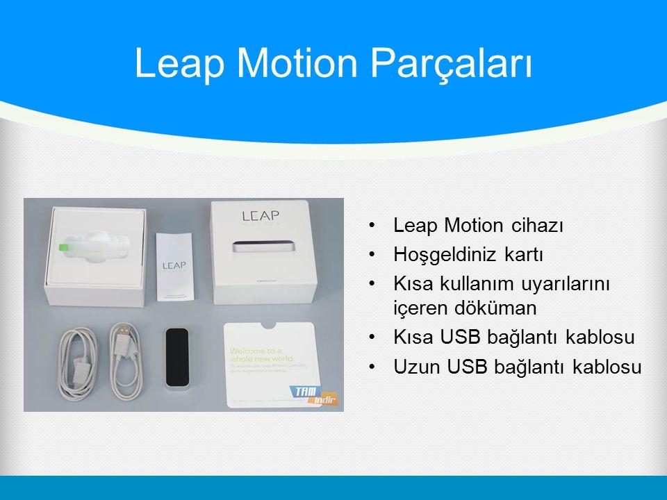 Leap Motion Parçaları Leap Motion cihazı Hoşgeldiniz kartı