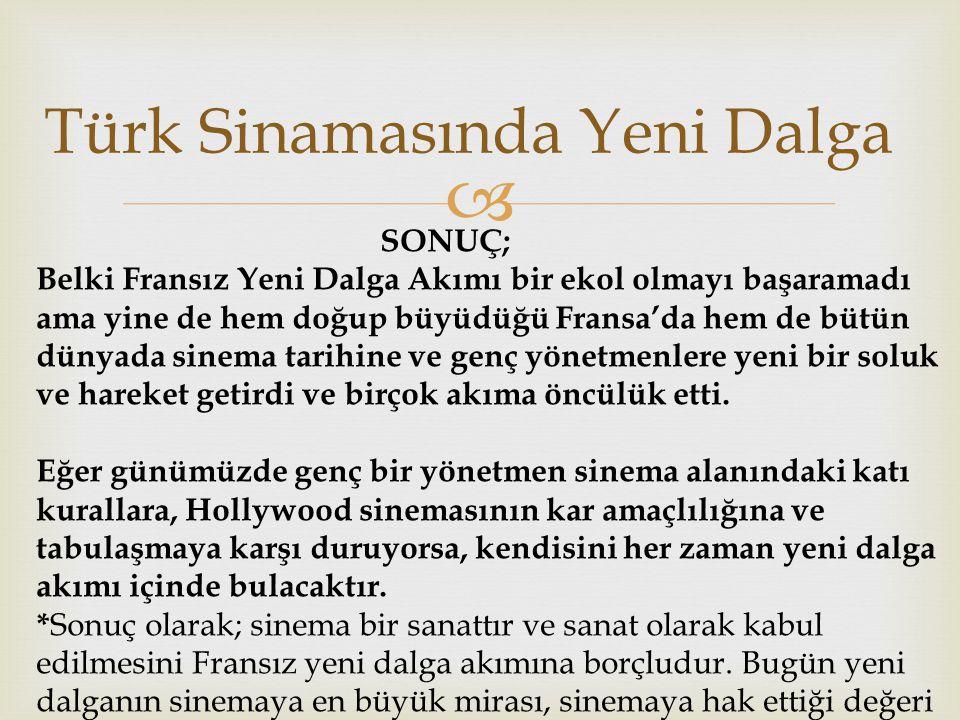 Türk Sinamasında Yeni Dalga