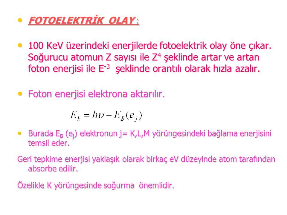 Foton enerjisi elektrona aktarılır.