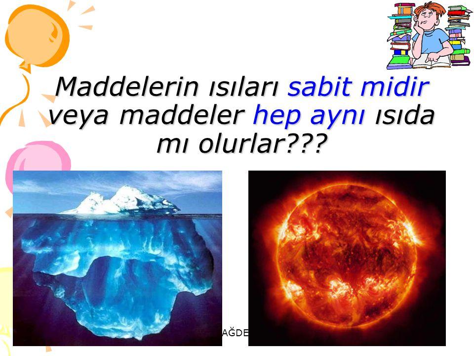Maddelerin ısıları sabit midir veya maddeler hep aynı ısıda mı olurlar