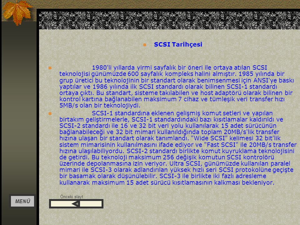 SCSI Tarihçesi