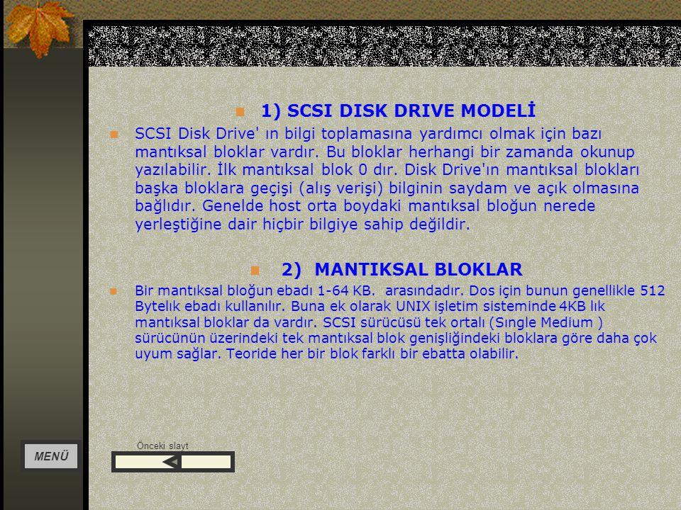 1) SCSI DISK DRIVE MODELİ