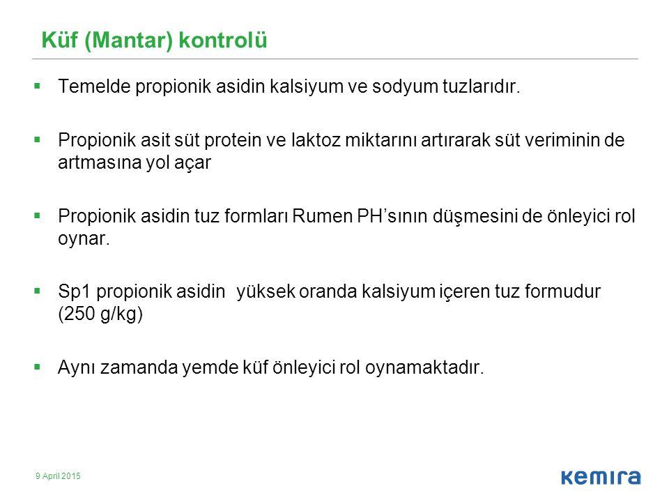 Küf (Mantar) kontrolü Temelde propionik asidin kalsiyum ve sodyum tuzlarıdır.