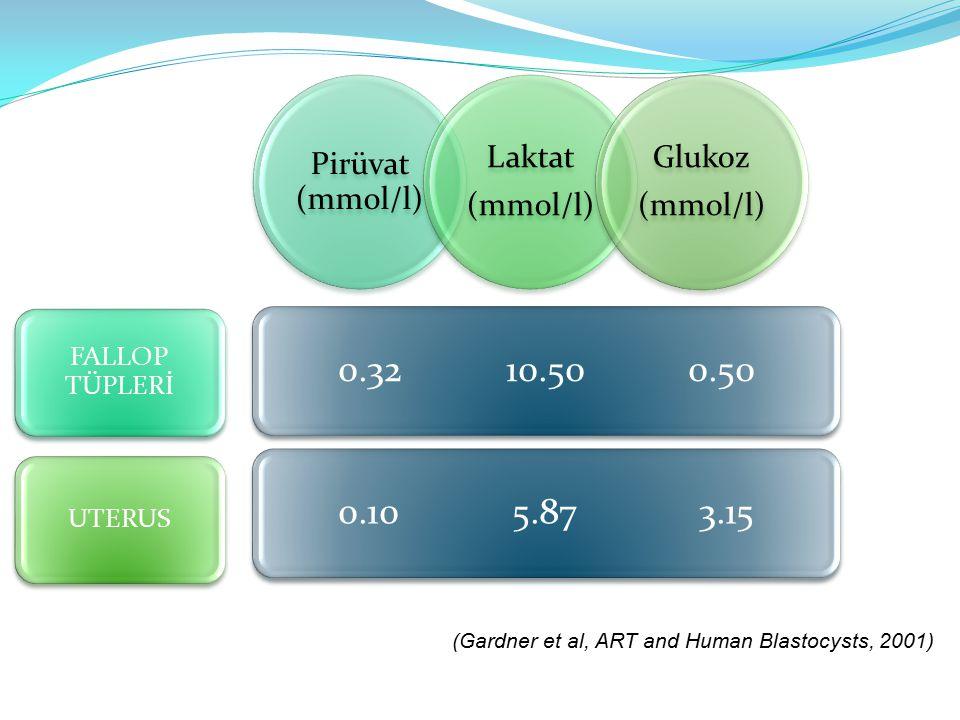 Pirüvat (mmol/l) (mmol/l) Laktat. Glukoz. 0.32 10.50 0.50. 0.10 5.87 3.15.