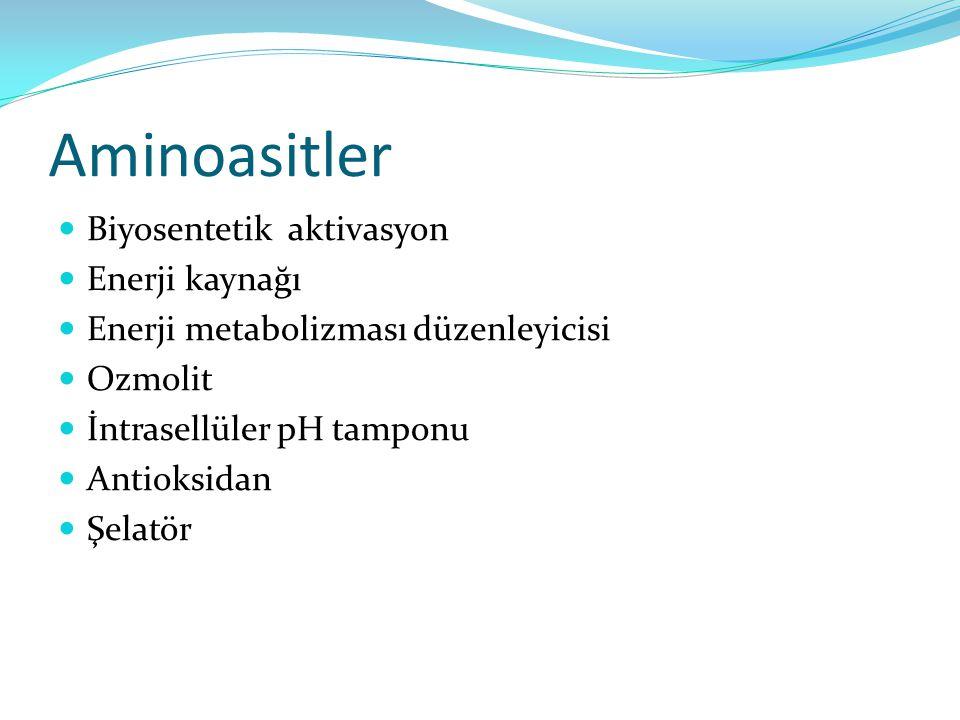 Aminoasitler Biyosentetik aktivasyon Enerji kaynağı