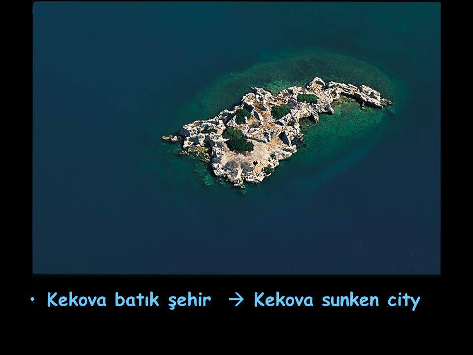 Kekova batık şehir  Kekova sunken city