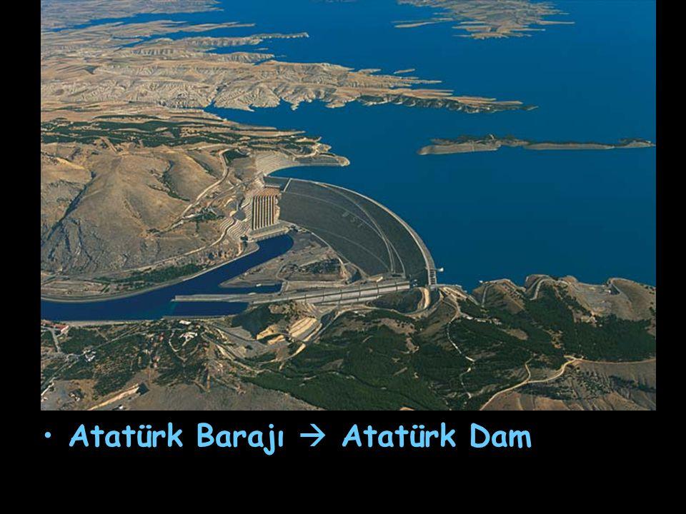 Atatürk Barajı  Atatürk Dam