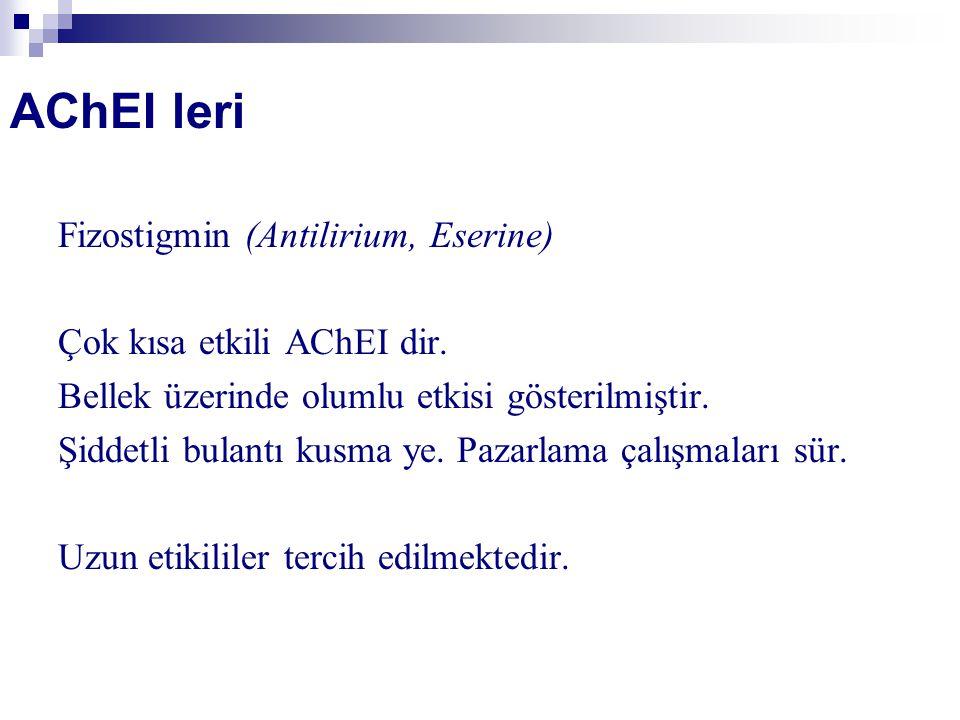 AChEI leri Fizostigmin (Antilirium, Eserine)