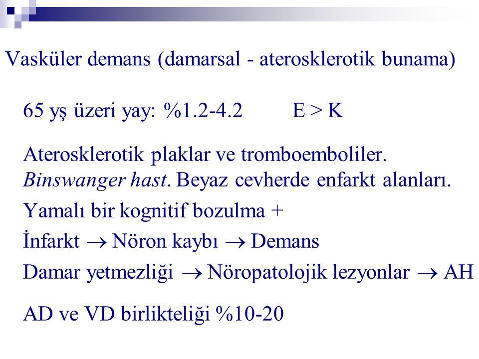 Vasküler demans (damarsal - aterosklerotik bunama)
