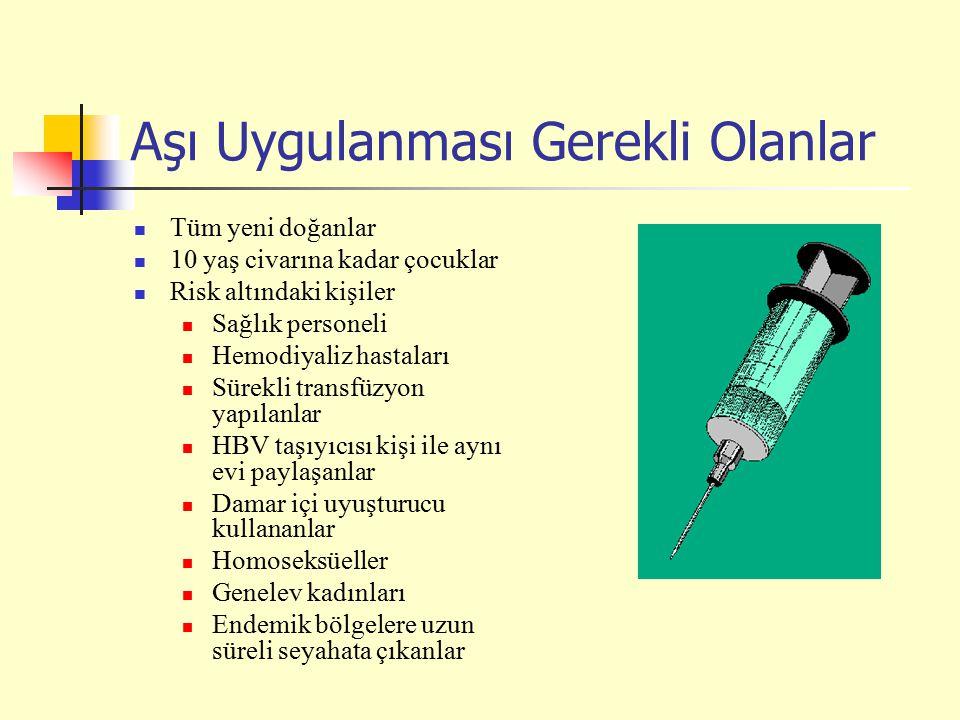 Aşı Uygulanması Gerekli Olanlar