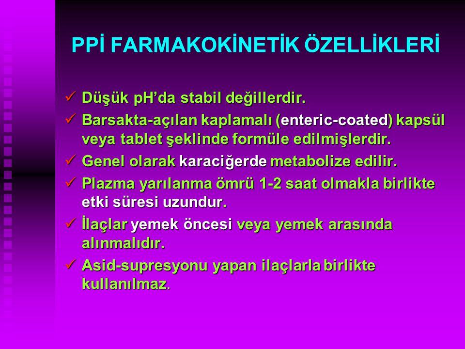 PPİ FARMAKOKİNETİK ÖZELLİKLERİ